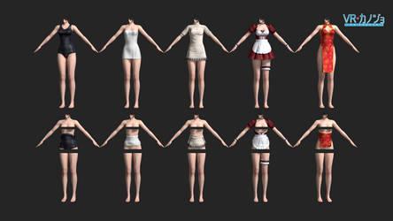 vr kanojo: sakura outfits fullbody