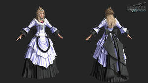 FFVIIR: cloud strife dress gorgeous