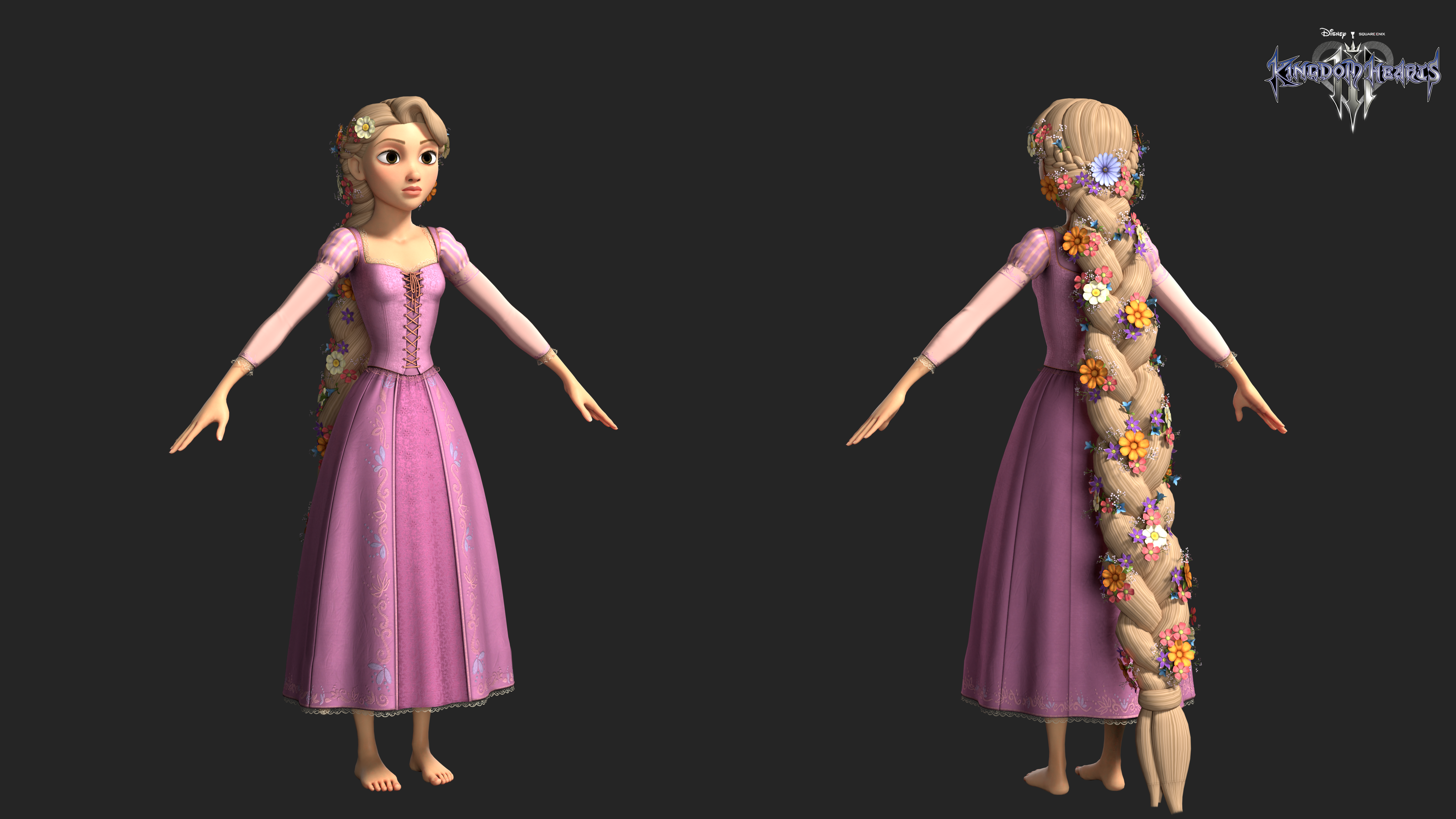 Kingdom Hearts 3 Rapunzel Braided Hair By Rotten Eyed On Deviantart