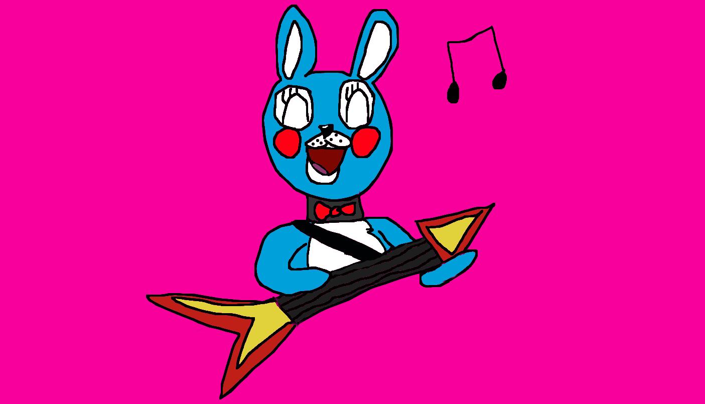 Bonnie fnaf 2 playing guitar by dacomicsthobro on deviantart