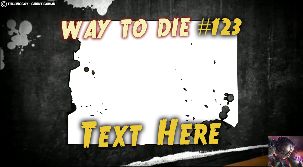 1000 Ways To Die CUSTOM FONT PSD By THE UNGGOY