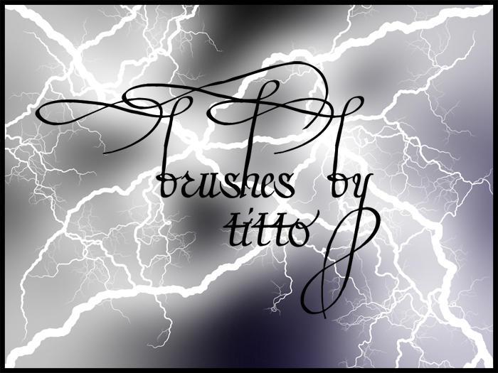 Lightning brushes by StormyNight83