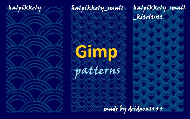 how to add a pattern in gimp