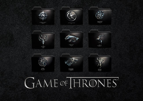 Game Of Thrones House Sigil and Words Folder Icons