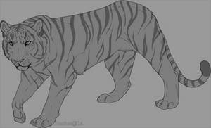 Lineart tiger