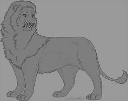 V.1 Lion male lineart by Plasticss