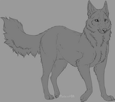 Wolf Lineart by Plasticss