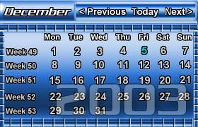 Chromed Blue Calendar by fivesballs
