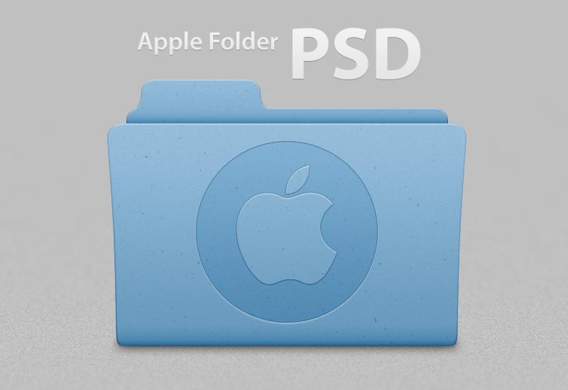 Apple Folder .PSD Template