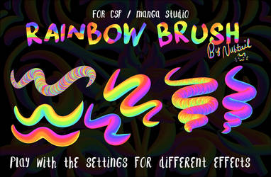 Weird Rainbow Brush for CSP/Manga Studio