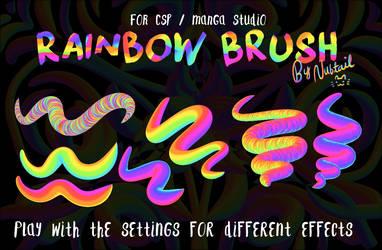 Weird Rainbow Brush for CSP/Manga Studio by nubtail