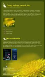 Dandy Yellow Journal Skin