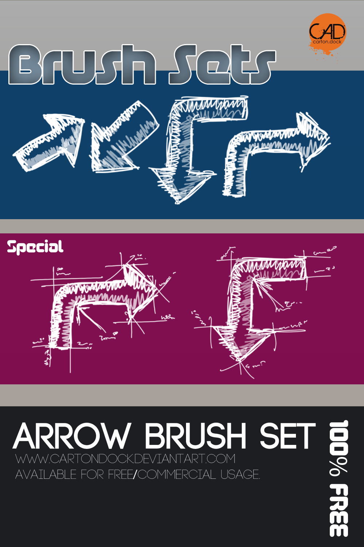 Free Arrow Brush Set