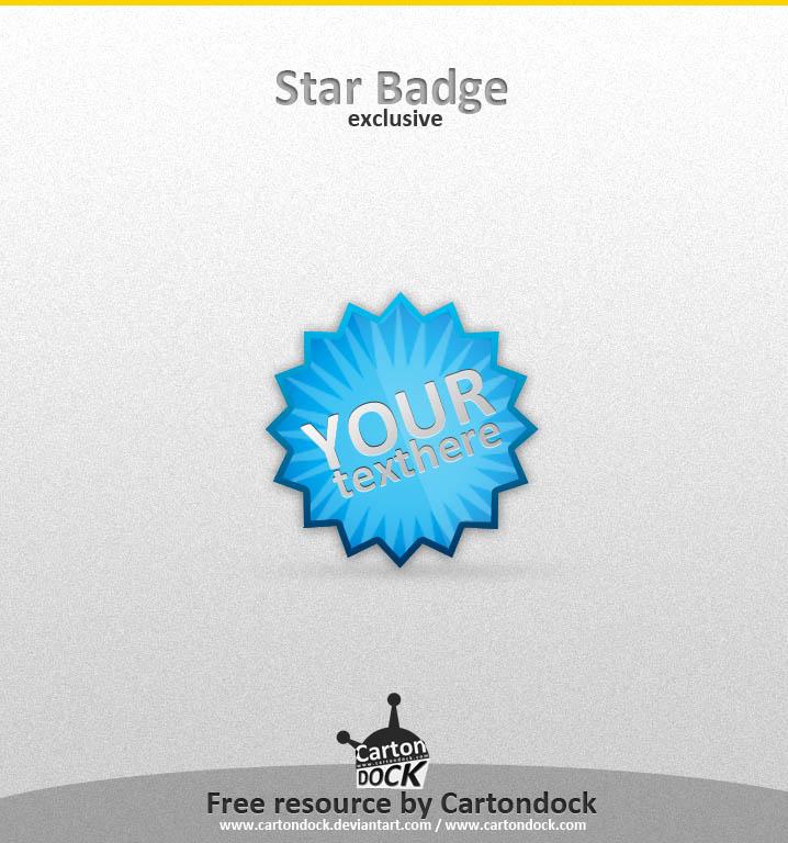 Exclusive star badge