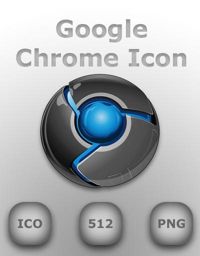 Google Chrome Icon Blue by GreasyBacon