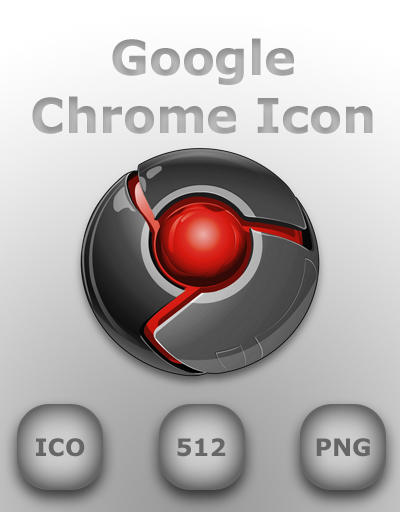 Google Chrome Icon Red by GreasyBacon on DeviantArt