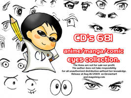 681 anime eyes collection