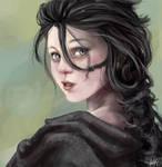 Katinka 'realistic-ish' portrait by gaaraxel-13