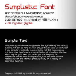 Simplistic font by Xa0tiK