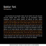 Reaktor font....remixed