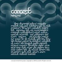 Concept remixed font by Xa0tiK