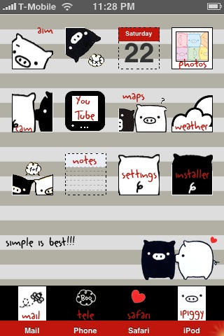Monokuro Boo iPhone Theme by fox0r