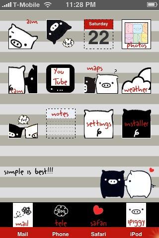 Monokuro Boo iPhone Theme by fox0r