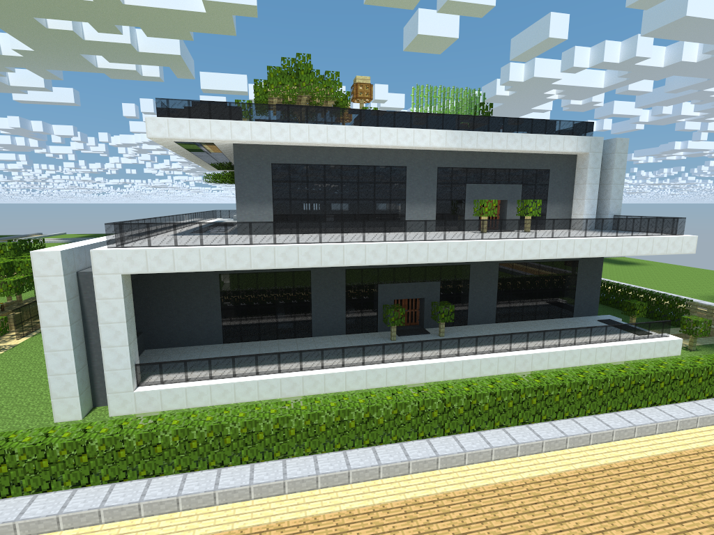 Minecraft modern house by ekynn on deviantart - Modern house minecraft ...