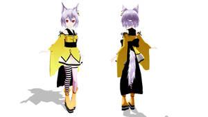 MMD Fox girl by Kanahiko-chan