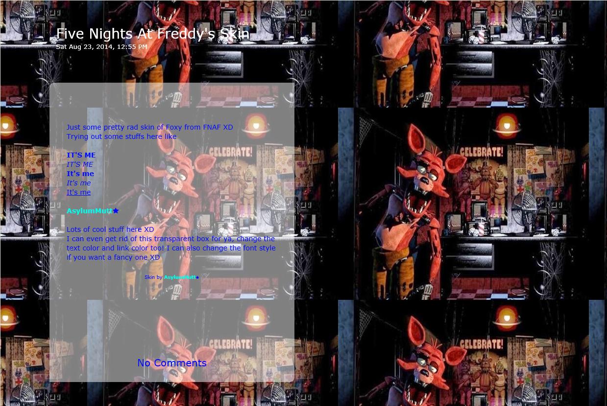 Foxy - Five Nights At Freddy's Journal Skin by AsylumMutt