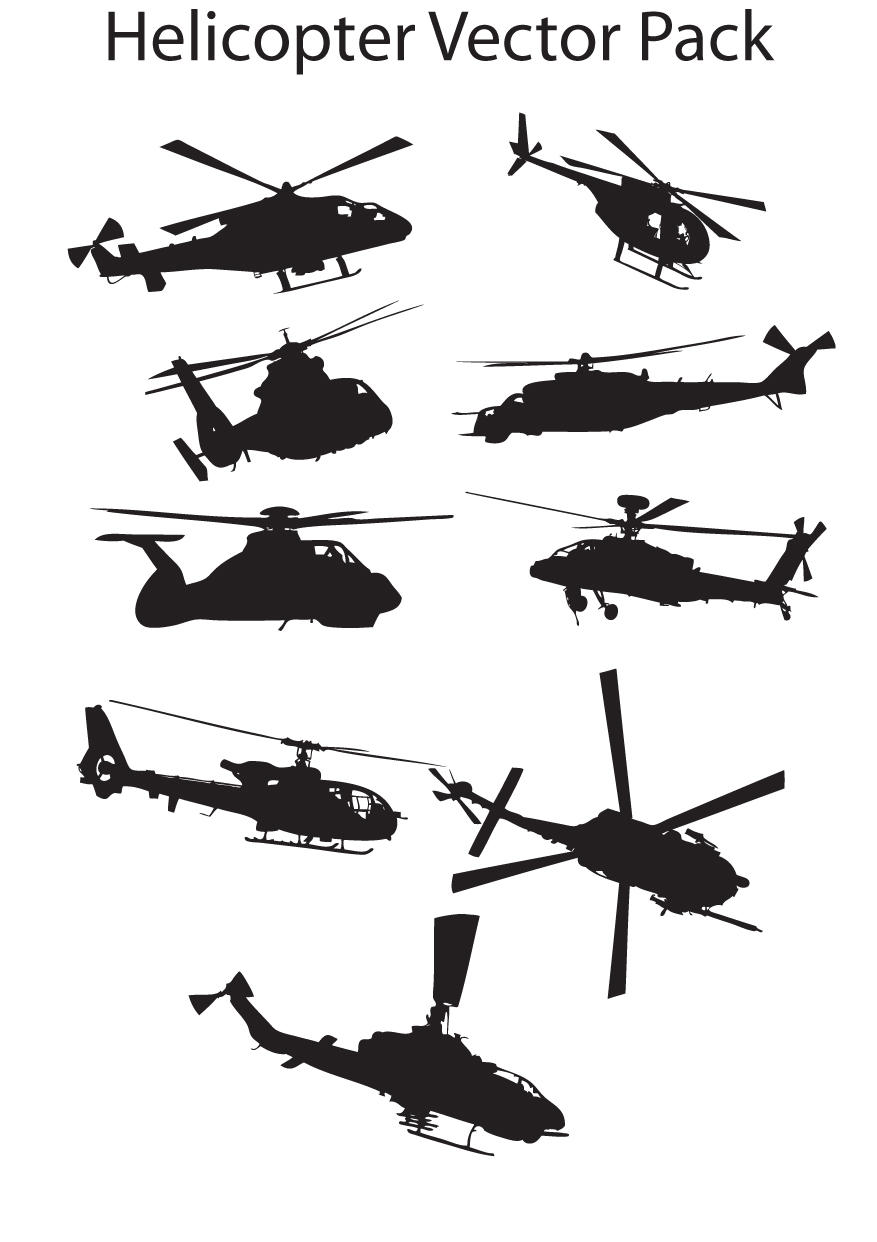 Helicopter Vector Pack by Thegoldenmane