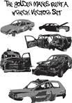 Rent A Wreck Vector Set