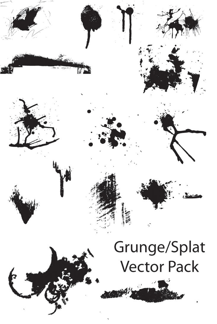 Grunge-Splat vector pack by Thegoldenmane