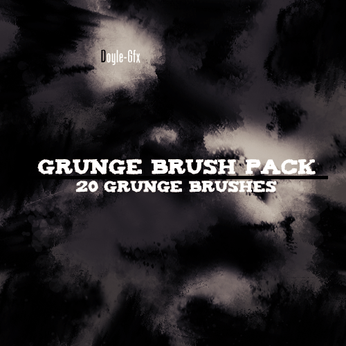 Grunge Brush Pack by DoyIe-Gfx