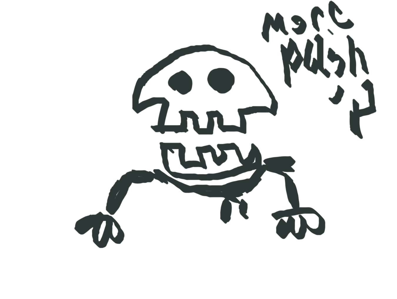 how to draw a scary skeleton