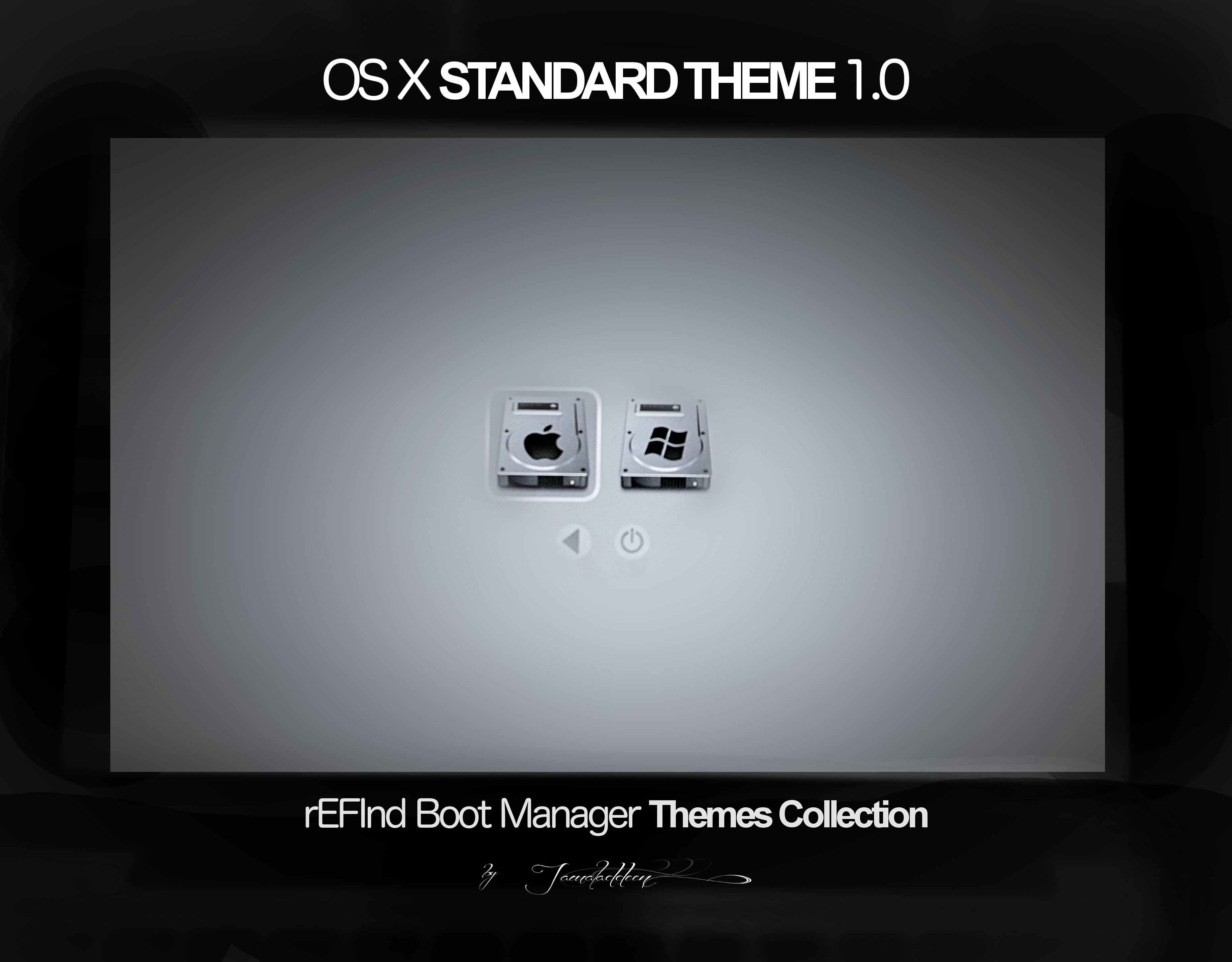 rEFInd OSX Standard Theme 1.0