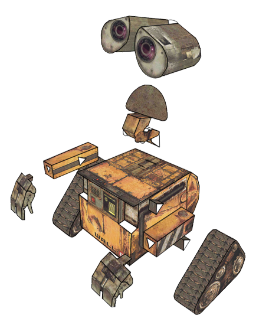 Paper Wall E By Kspudw On Deviantart