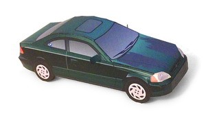 96-00 Honda Civic papercraft by kspudw