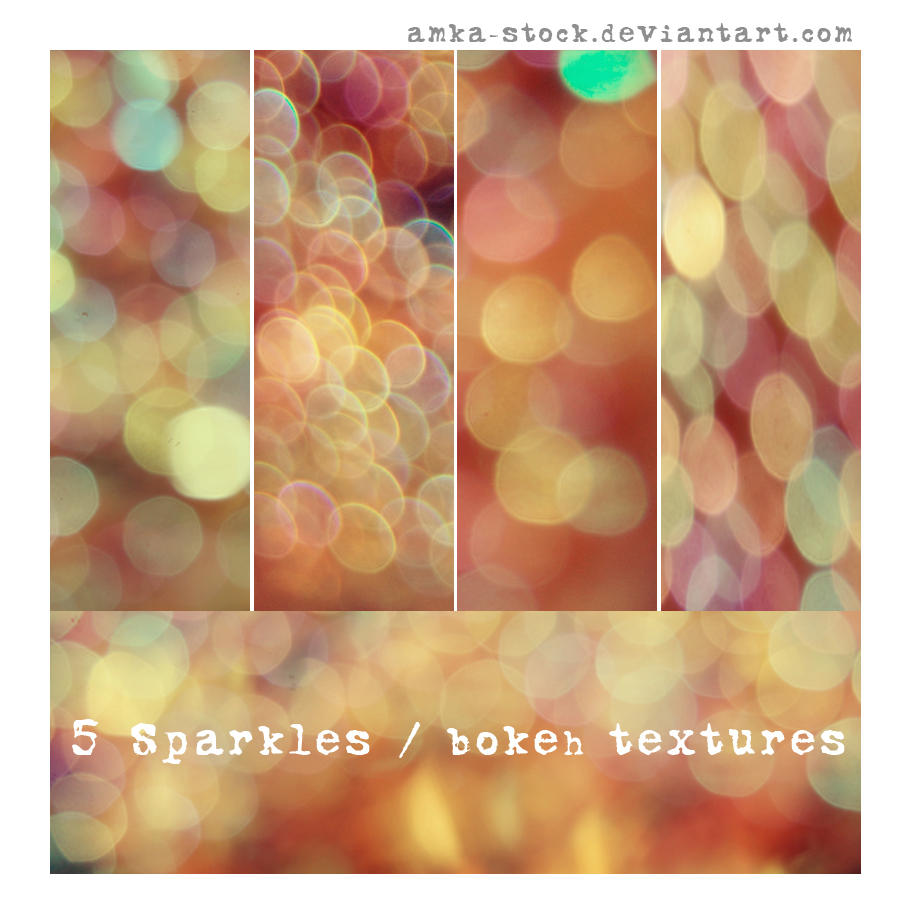 5 sparkles - bokeh textures by amka-stock