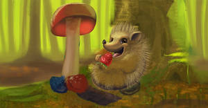 Lucky Hedgehog - Process Steps [animated gif]