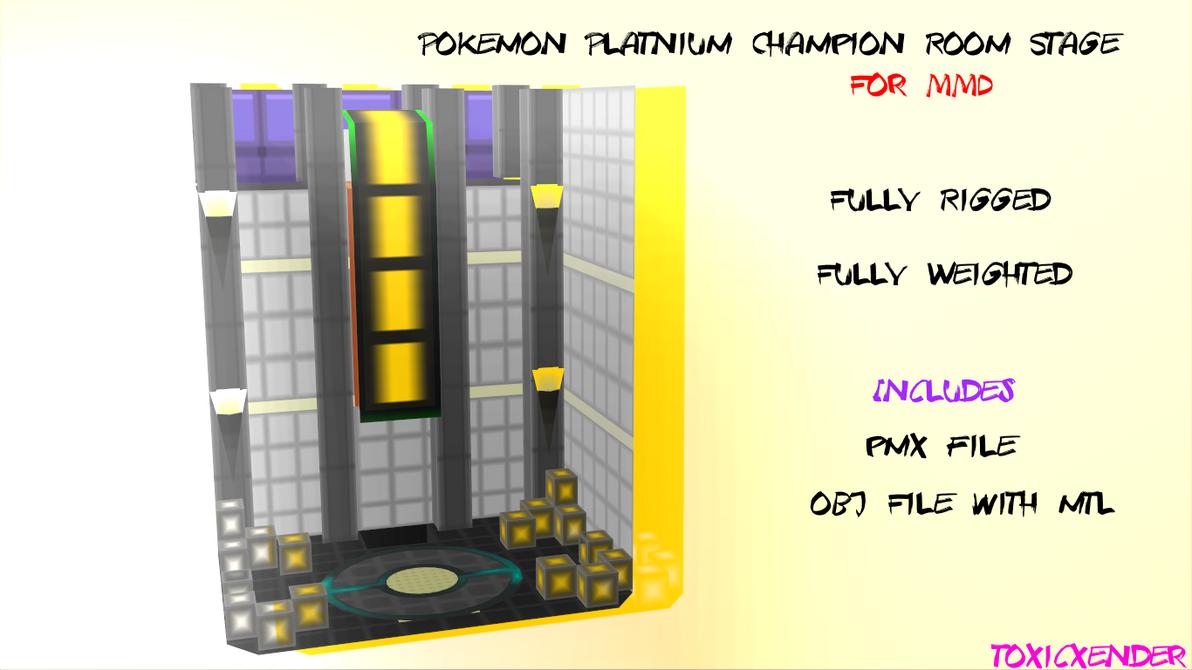 MMD Pokemon Platnium Champion Stage by ToxicXender