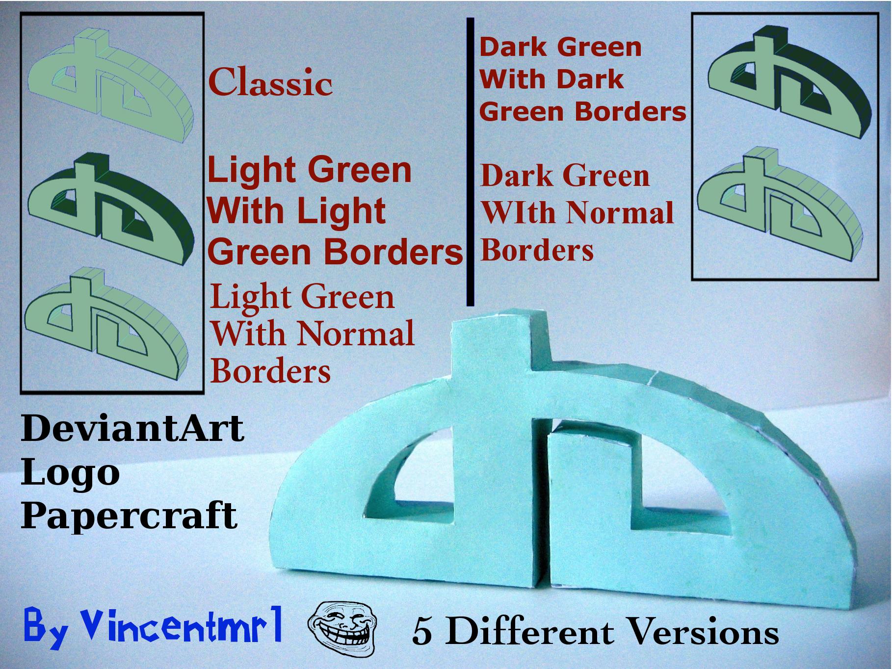 DeviantArt Logo Papercraft by Vincentmrl