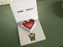 Zelda Pop-Up Valentine Printable