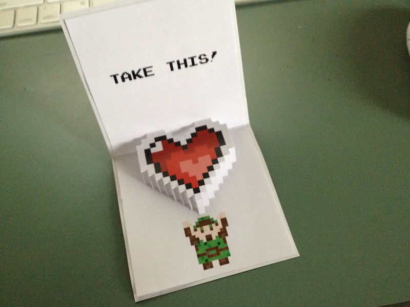 Zelda Pop-Up Valentine Printable by quidprosno
