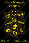 choclate gold icon pack for metro style