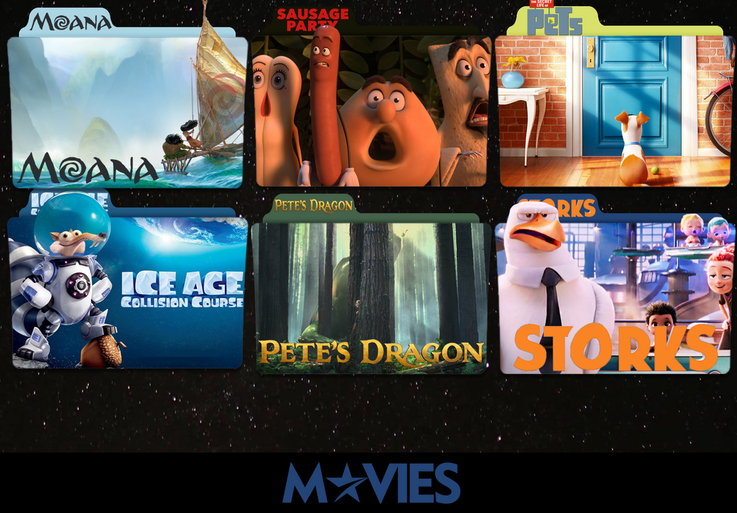 Animation movies 2016 folder icon pack by movieiconman