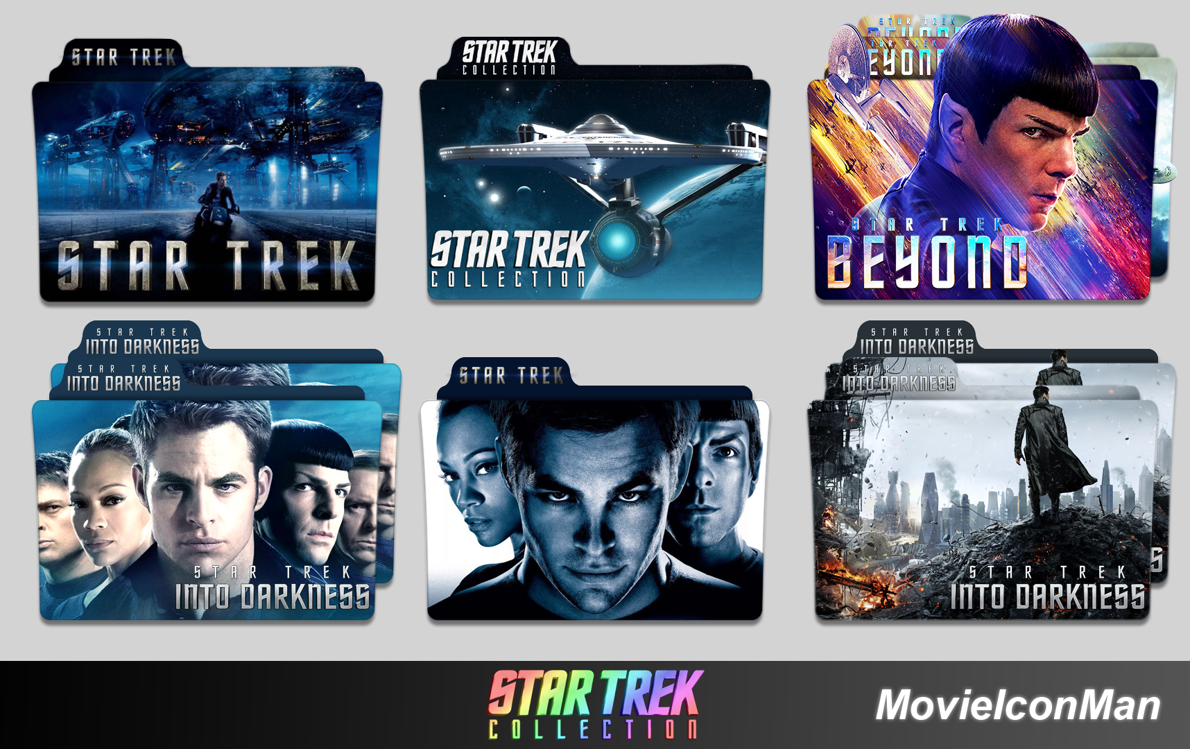 Star Trek Collection Folder Icon Pack By Movieiconman On