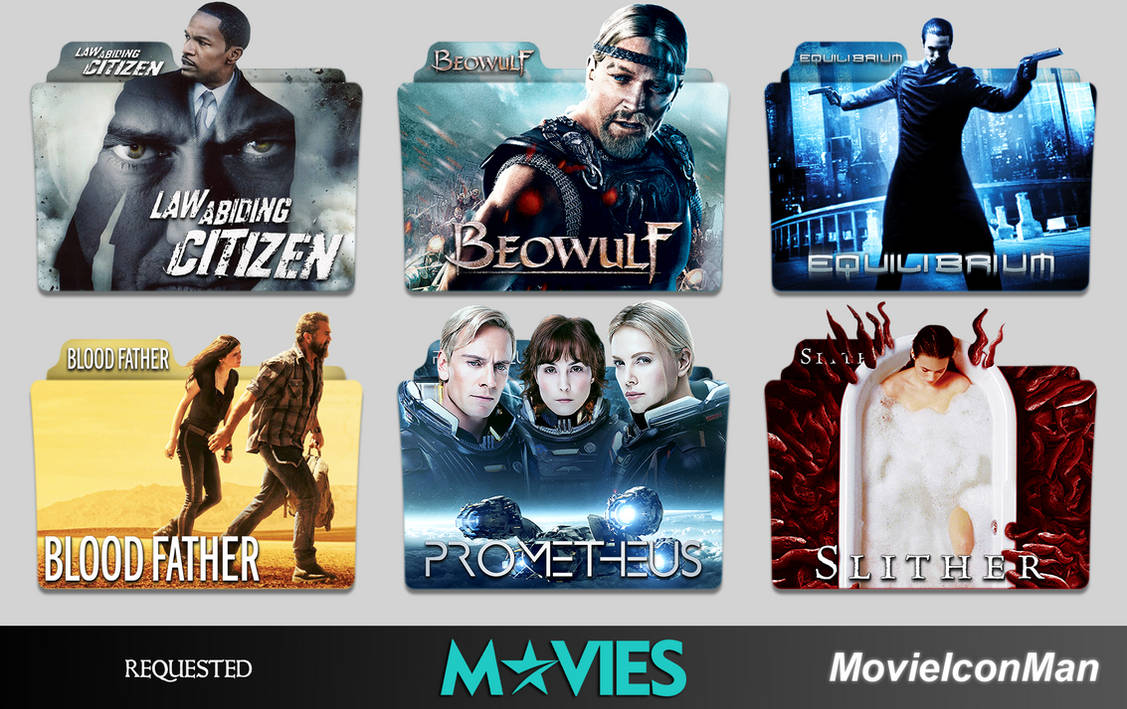 Random Requested Movies Folder Icon Pack by MovieIconMan on