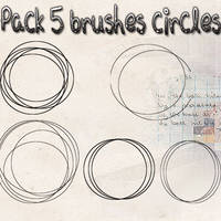 Pack 5 Brushes Circles by EditionsAguss