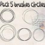 Pack 5 Brushes Circles